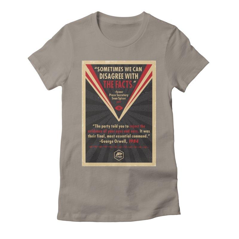 PORP Orwellian Poster Women's Fitted T-Shirt by PORPMerch's Artist Shop