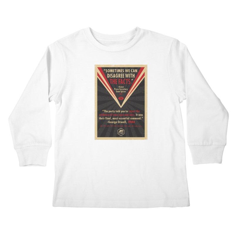 PORP Orwellian Poster Kids Longsleeve T-Shirt by PORPMerch's Artist Shop