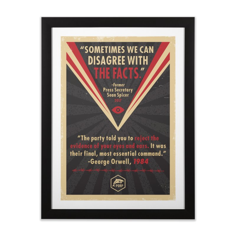 PORP Orwellian Poster Home Framed Fine Art Print by PORPMerch's Artist Shop