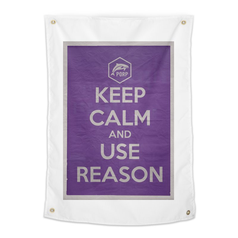 KEEP CALM and USE REASON Vintage Poster Home Tapestry by PORPMerch's Artist Shop