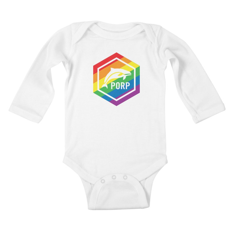 PORP Pride Kids Baby Longsleeve Bodysuit by PORPMerch's Artist Shop