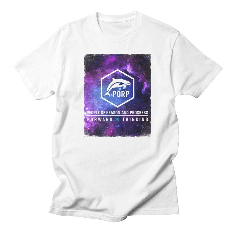 PORP in Space in Men's Regular T-Shirt White by PORP Merch's Artist Shop