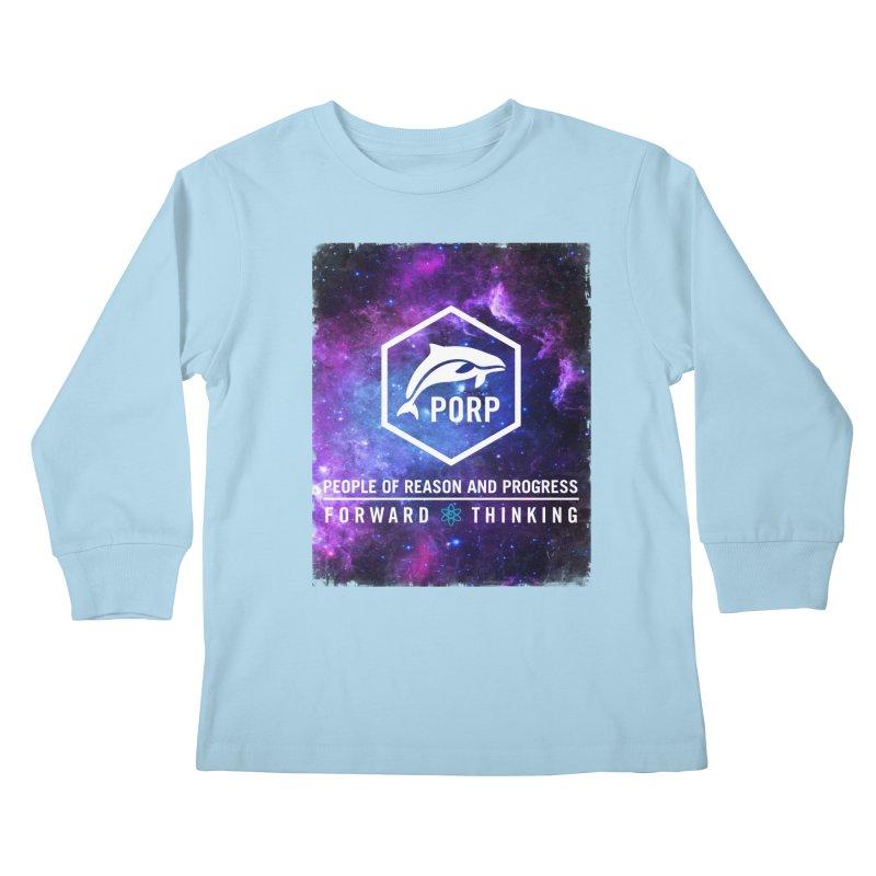 PORP in Space Kids Longsleeve T-Shirt by PORPMerch's Artist Shop