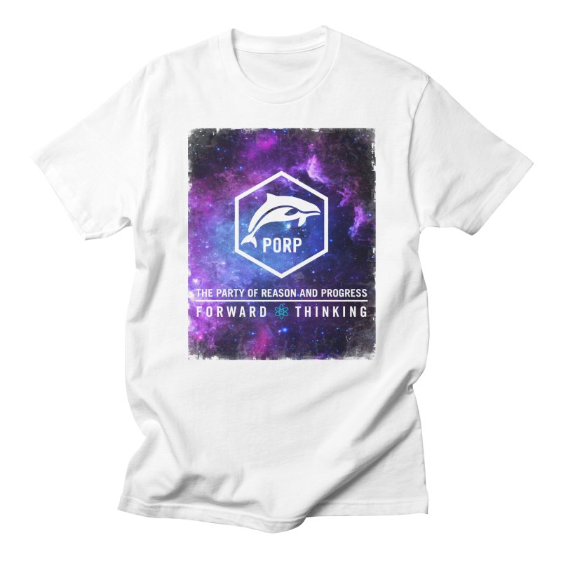 PORP in Space in Men's Regular T-Shirt White by PORPMerch's Artist Shop