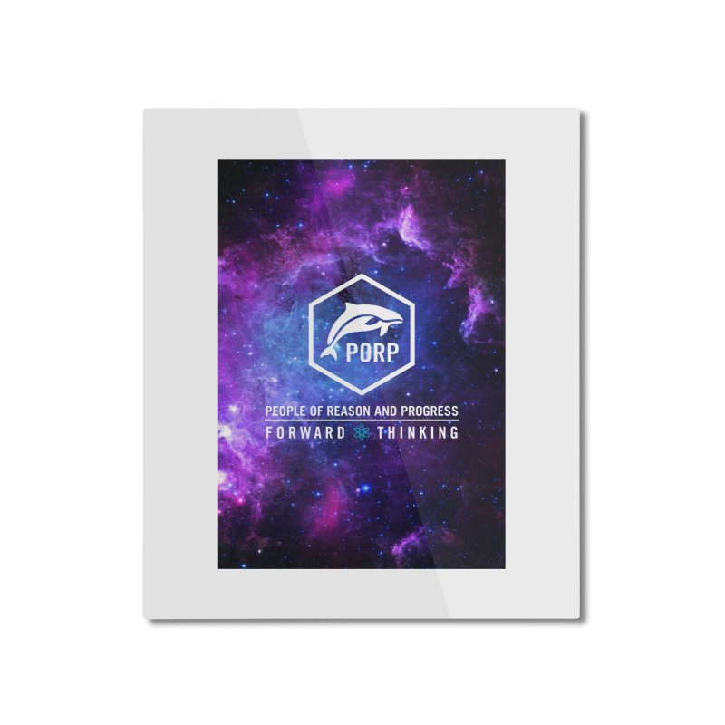 PORP in Space Home Mounted Aluminum Print by PORPMerch's Artist Shop