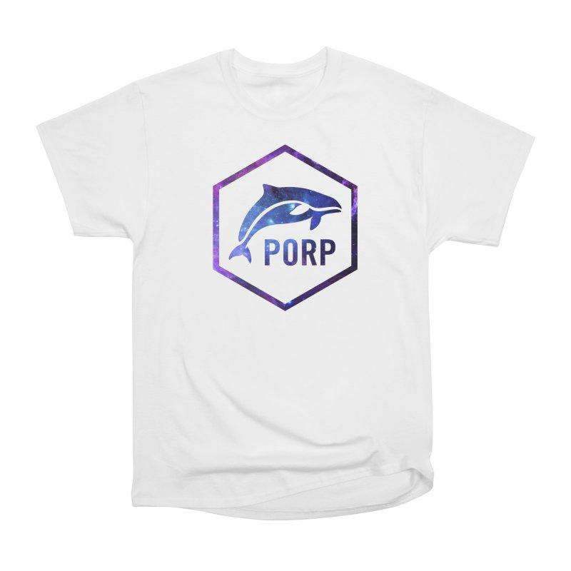 PORP in Space Inlay Men's Heavyweight T-Shirt by PORPMerch's Artist Shop