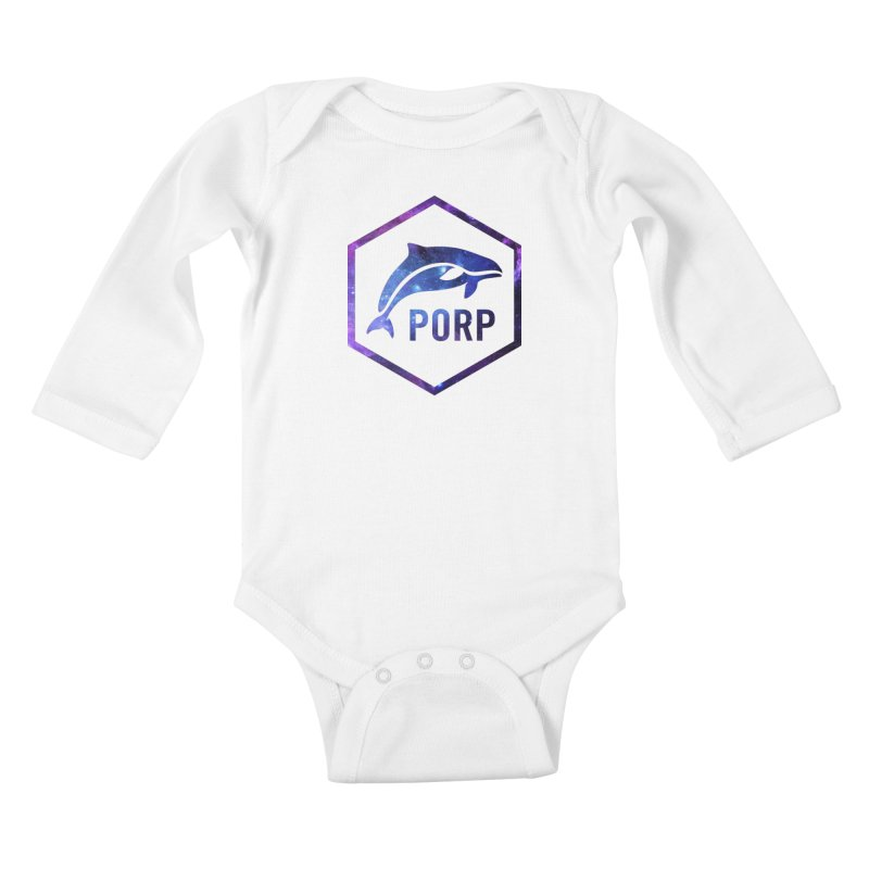 PORP in Space Inlay Kids Baby Longsleeve Bodysuit by PORPMerch's Artist Shop