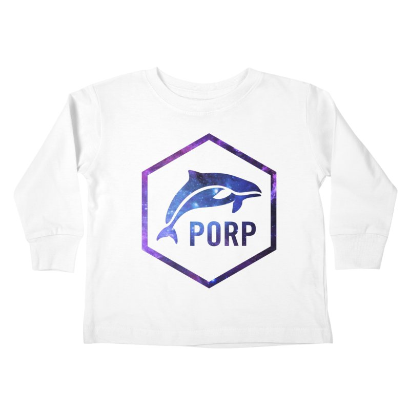 PORP in Space Inlay Kids Toddler Longsleeve T-Shirt by PORPMerch's Artist Shop