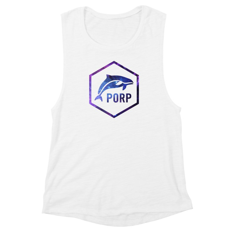 PORP in Space Inlay Women's Muscle Tank by PORPMerch's Artist Shop