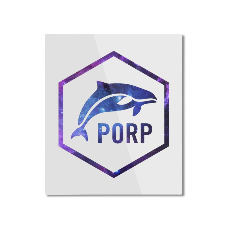 PORP in Space Inlay Home Mounted Aluminum Print by PORPMerch's Artist Shop
