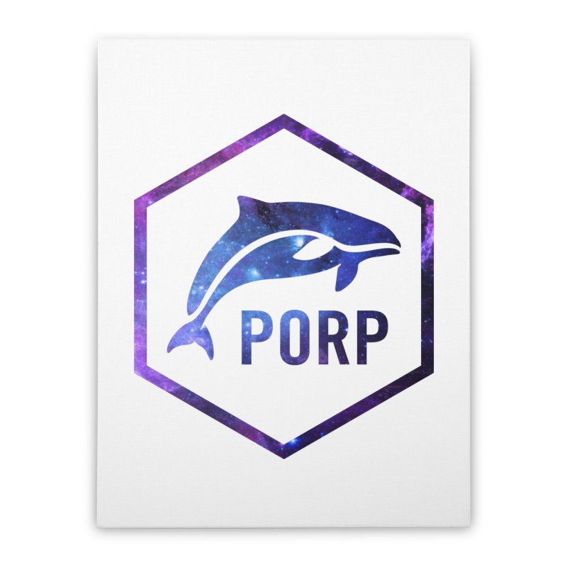 PORP in Space Inlay Home Stretched Canvas by PORPMerch's Artist Shop
