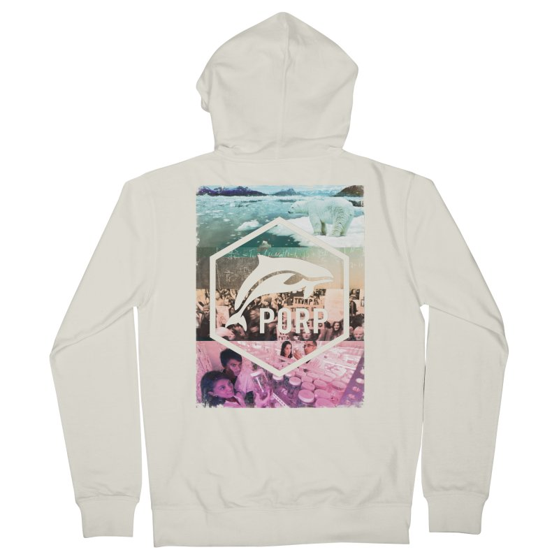 PORP Photo Collage Men's French Terry Zip-Up Hoody by PORPMerch's Artist Shop