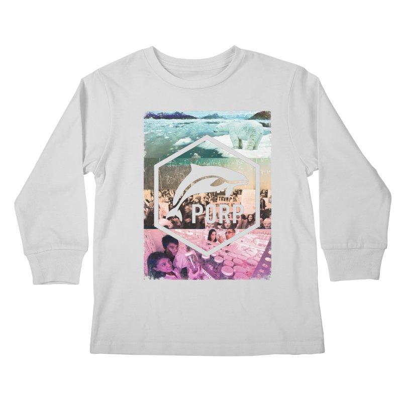 PORP Photo Collage Kids Longsleeve T-Shirt by PORPMerch's Artist Shop
