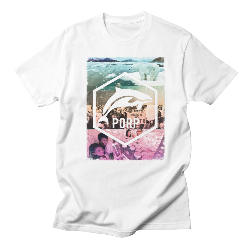 PORP Photo Collage in Men's Regular T-Shirt White by PORPMerch's Artist Shop