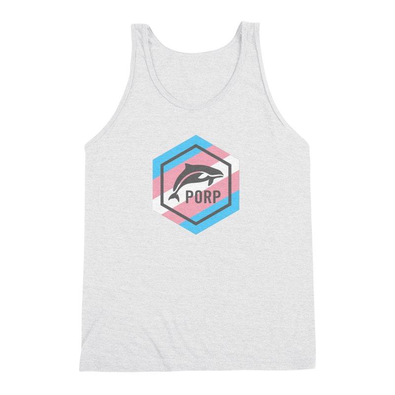 PORP Trans Pride Men's Triblend Tank by PORPMerch's Artist Shop