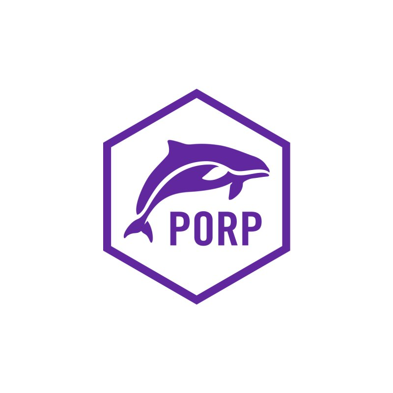 PORP Purple Icon Accessories Water Bottle by PORP Merch's Artist Shop