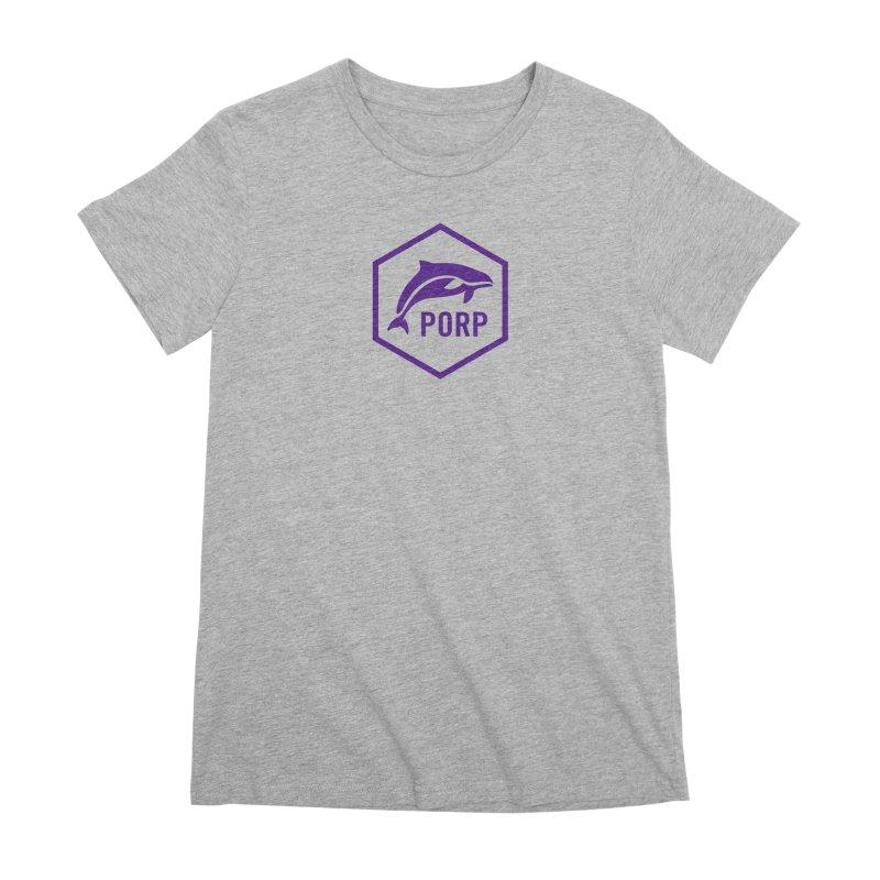 PORP Purple Icon Women's Premium T-Shirt by PORP Merch's Artist Shop