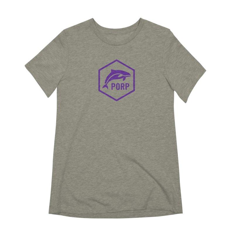 PORP Purple Icon Women's Extra Soft T-Shirt by PORP Merch's Artist Shop