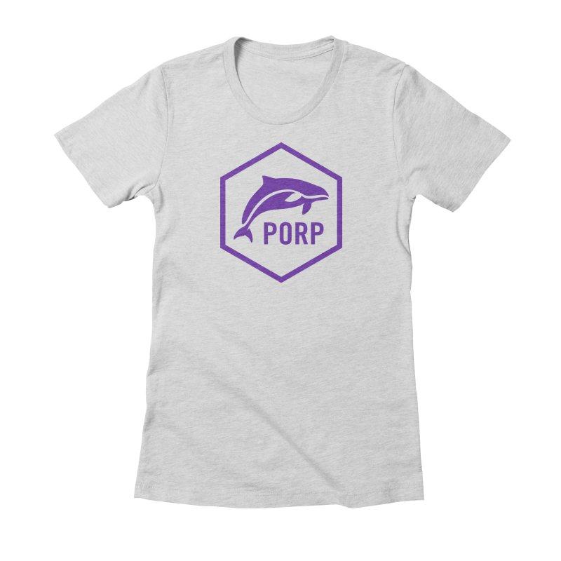 PORP Purple Icon Women's Fitted T-Shirt by PORPMerch's Artist Shop