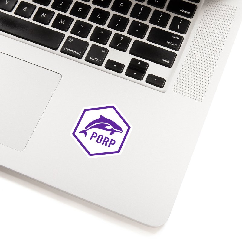 PORP Purple Icon in White Sticker by PORPMerch's Artist Shop