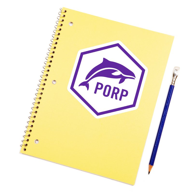 PORP Purple Icon Accessories Sticker by PORP Merch's Artist Shop