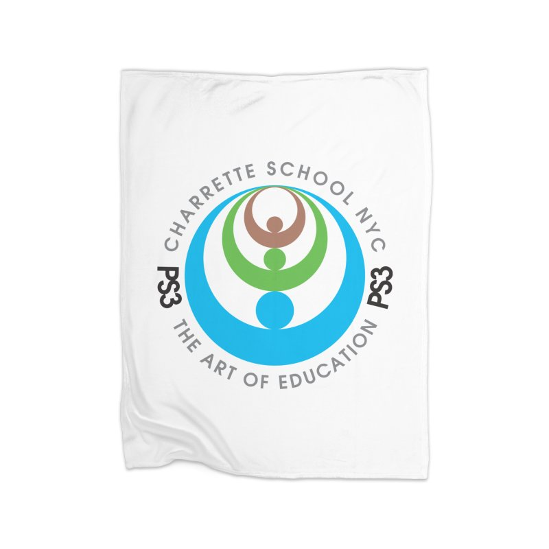 PS3 LOGO/SEAL Home Fleece Blanket Blanket by PS3: Charrette School