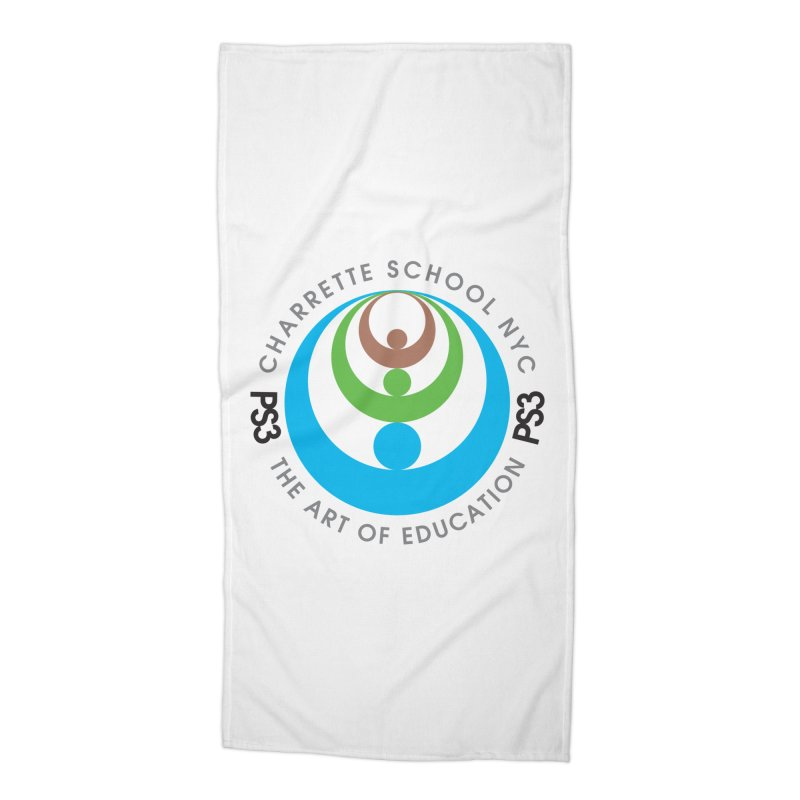 PS3 LOGO/SEAL Accessories Beach Towel by PS3: Charrette School