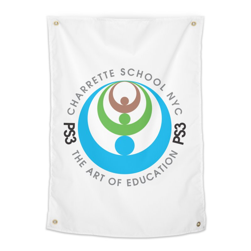 PS3 LOGO/SEAL Home Tapestry by PS3: Charrette School