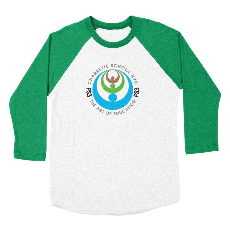 PS3 LOGO/SEAL Men's Baseball Triblend T-Shirt by PS3: Charrette School