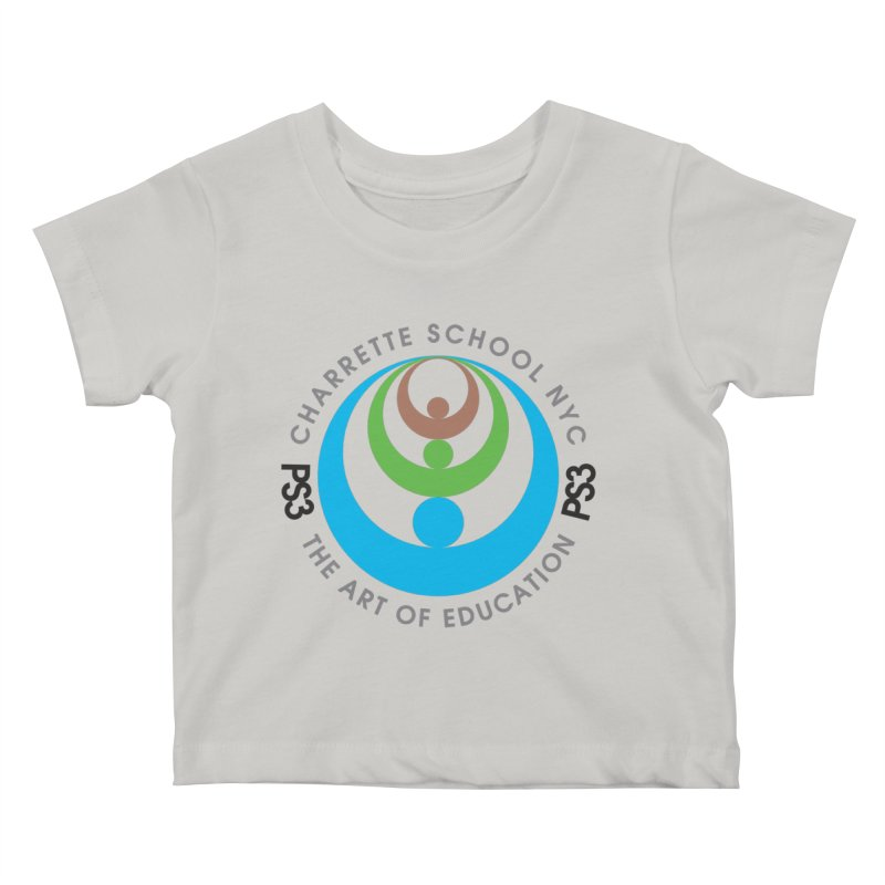 PS3 LOGO/SEAL Kids Baby T-Shirt by PS3: Charrette School