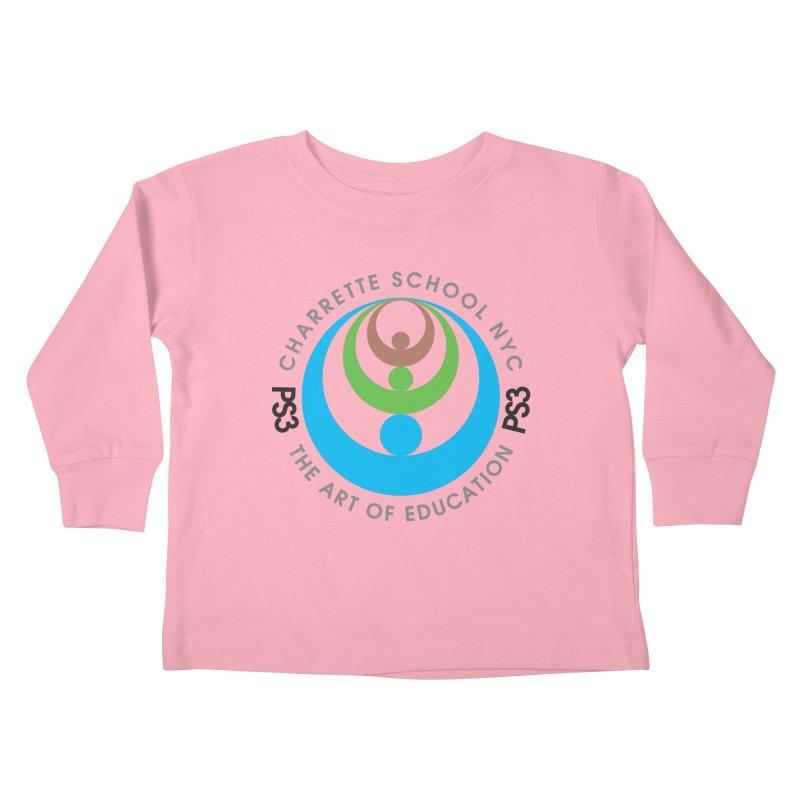 PS3 LOGO/SEAL Kids Toddler Longsleeve T-Shirt by PS3: Charrette School