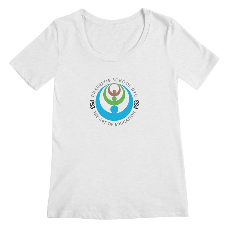 PS3 LOGO/SEAL Women's Scoopneck by PS3: Charrette School
