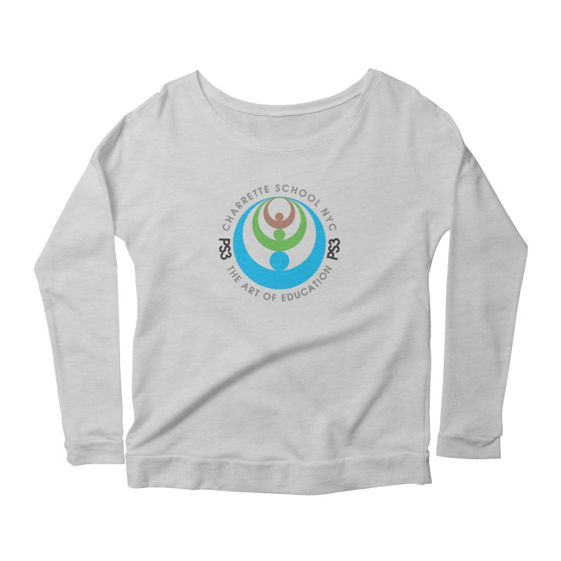 PS3 LOGO/SEAL Women's Longsleeve Scoopneck  by PS3: Charrette School