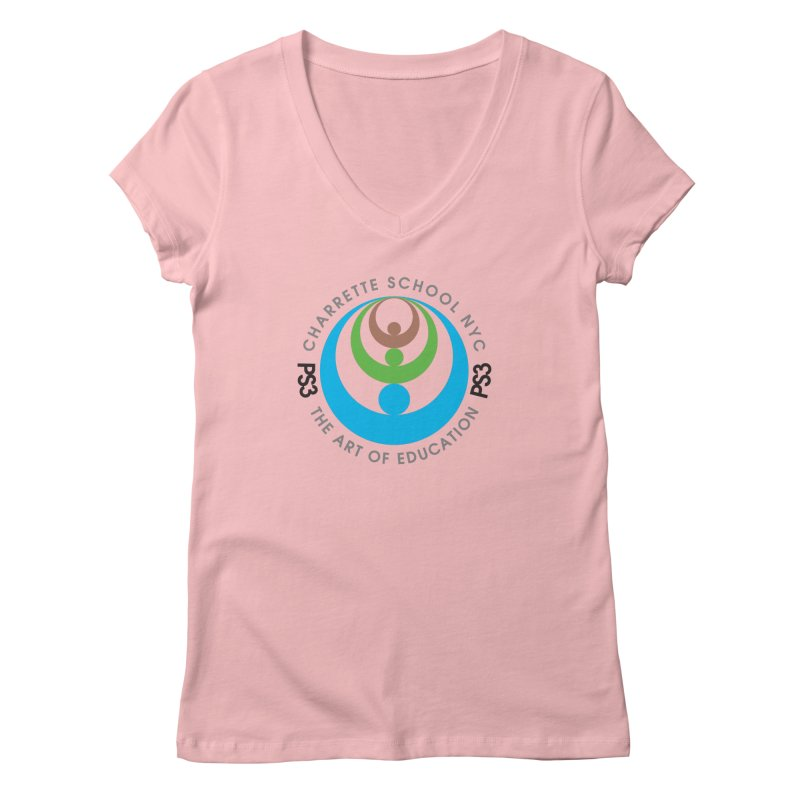 PS3 LOGO/SEAL Women's Regular V-Neck by PS3: Charrette School