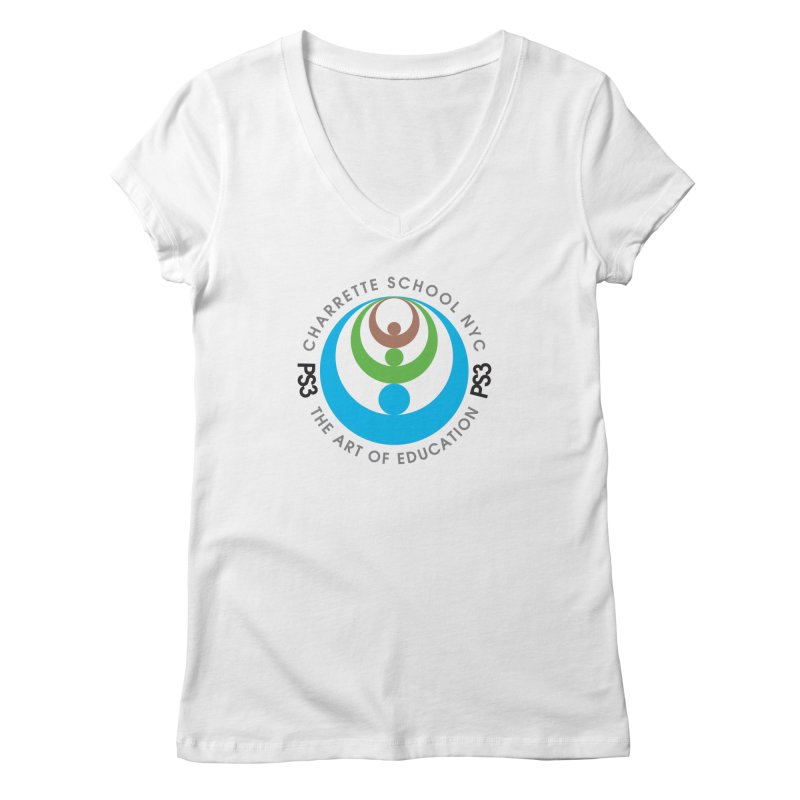 PS3 LOGO/SEAL Women's V-Neck by PS3: Charrette School