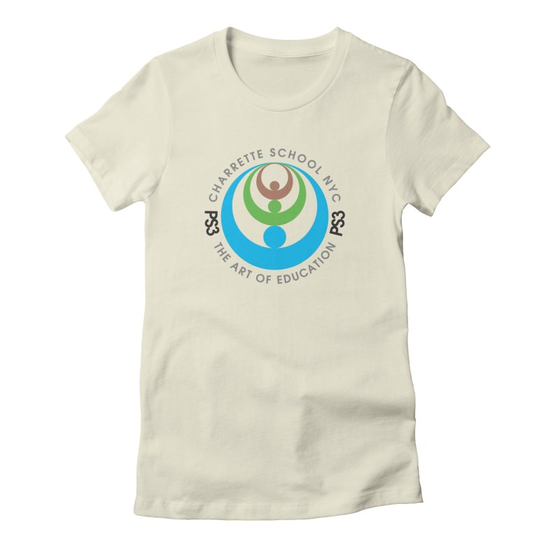 PS3 LOGO/SEAL Women's Fitted T-Shirt by PS3: Charrette School
