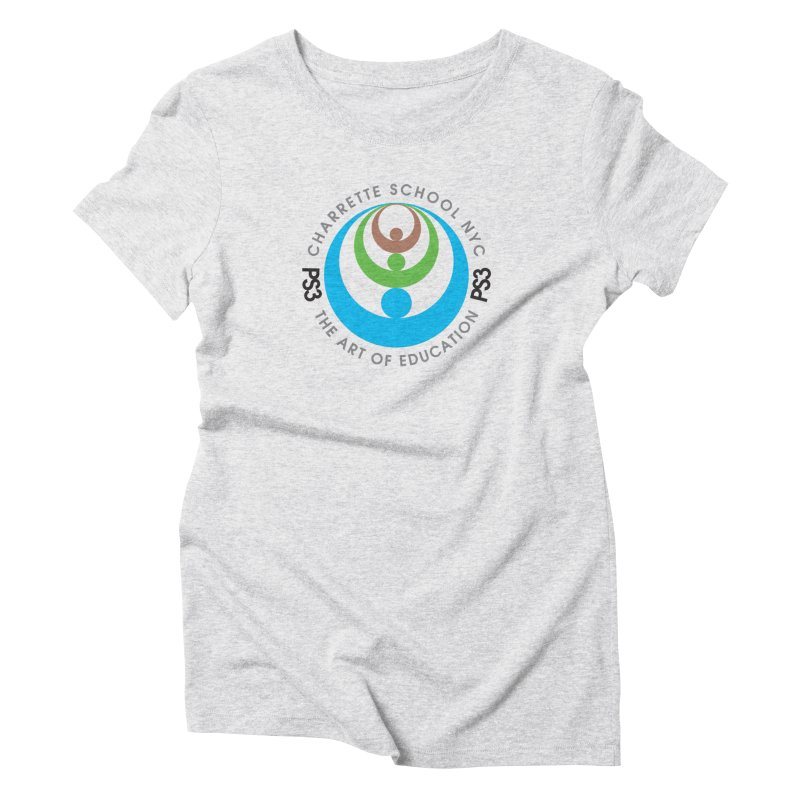 PS3 LOGO/SEAL Women's Triblend T-Shirt by PS3: Charrette School