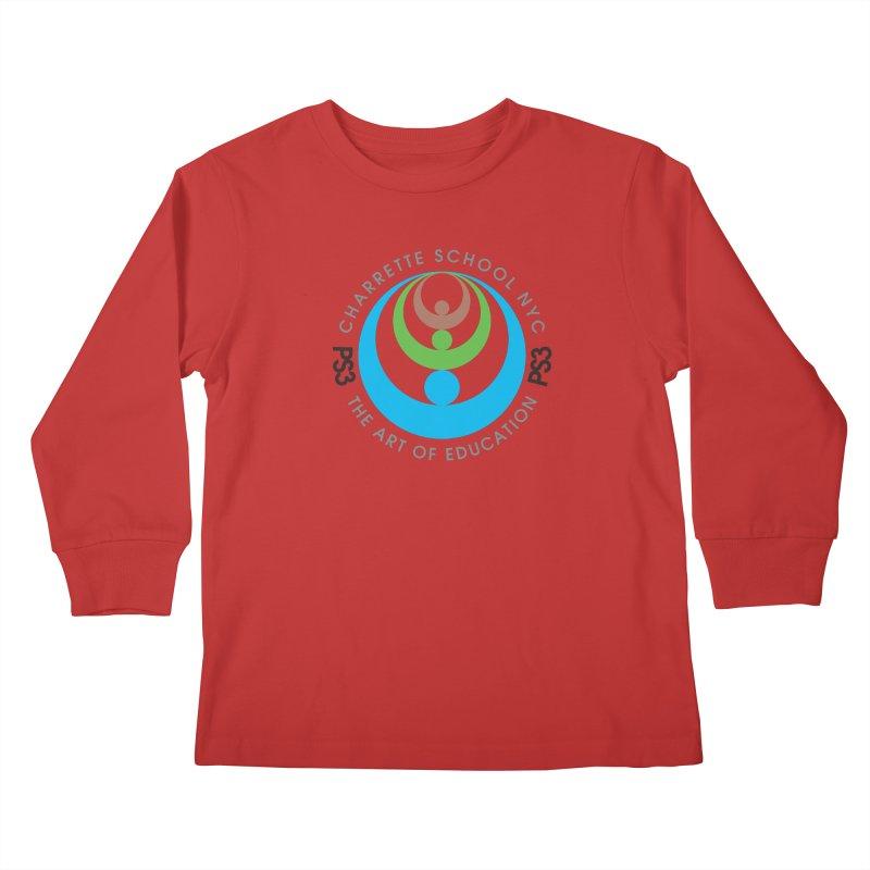PS3 LOGO/SEAL Kids Longsleeve T-Shirt by PS3: Charrette School
