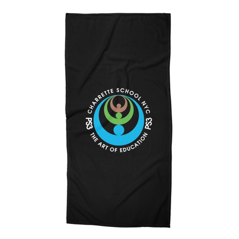 PS3 LOGO/SEAL -- DARK BACKGROUND Accessories Beach Towel by PS3: Charrette School