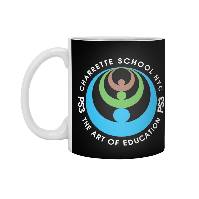 PS3 LOGO/SEAL -- DARK BACKGROUND Accessories Mug by PS3: Charrette School