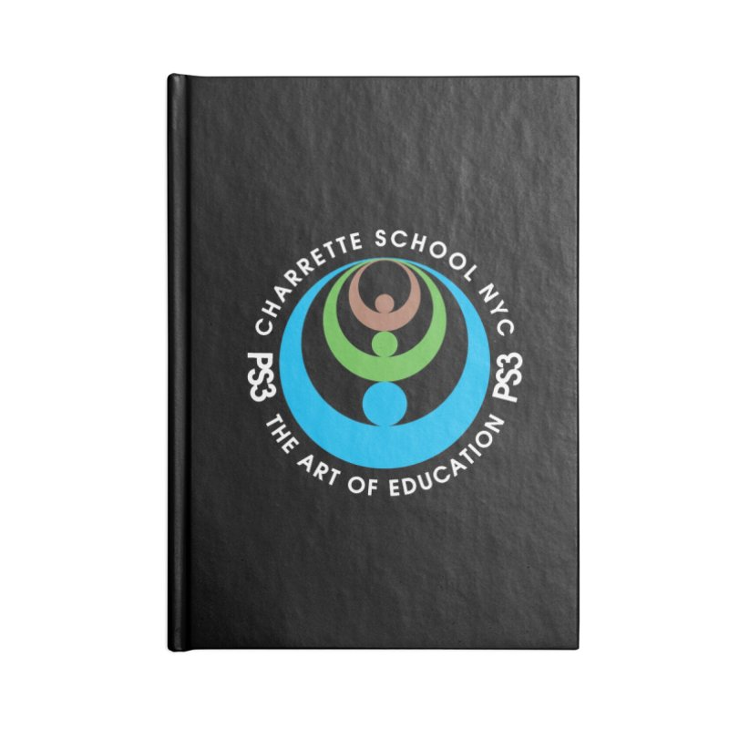 PS3 LOGO/SEAL -- DARK BACKGROUND Accessories Notebook by PS3: Charrette School