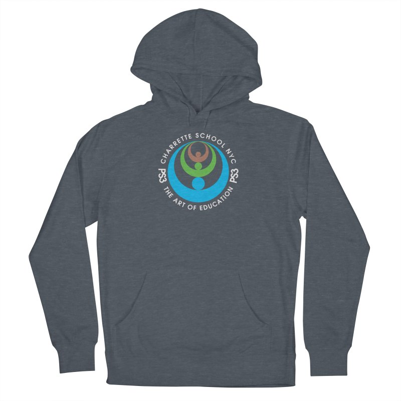 PS3 LOGO/SEAL -- DARK BACKGROUND Men's French Terry Pullover Hoody by PS3: Charrette School