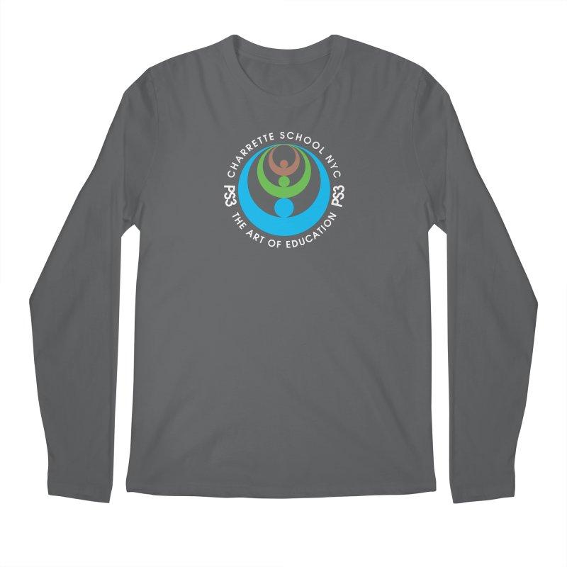 PS3 LOGO/SEAL -- DARK BACKGROUND Men's Regular Longsleeve T-Shirt by PS3: Charrette School