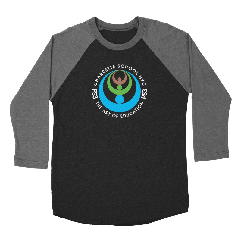 PS3 LOGO/SEAL -- DARK BACKGROUND Women's Baseball Triblend Longsleeve T-Shirt by PS3: Charrette School