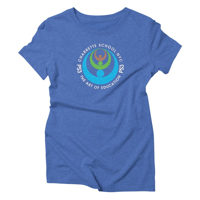 PS3 LOGO/SEAL -- DARK BACKGROUND Women's Triblend T-Shirt by PS3: Charrette School