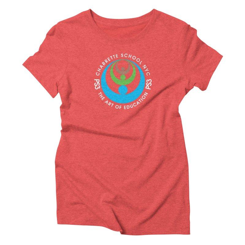 PS3 LOGO/SEAL -- DARK BACKGROUND Women's Triblend T-Shirt by PS3: Charrette School