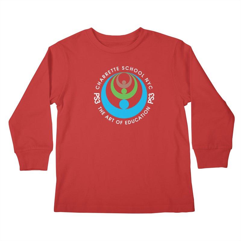 PS3 LOGO/SEAL -- DARK BACKGROUND Kids Longsleeve T-Shirt by PS3: Charrette School