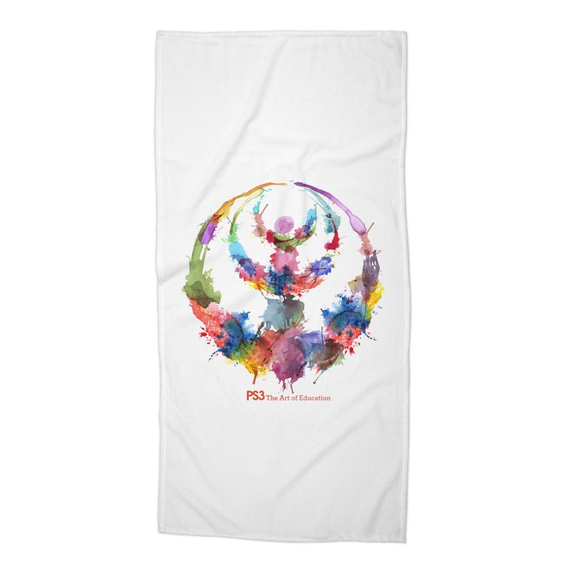 Limited Edition PS3 Watercolor Logo Accessories Beach Towel by PS3: Charrette School