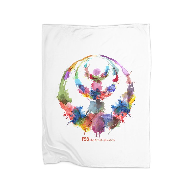 Limited Edition PS3 Watercolor Logo Home Fleece Blanket Blanket by PS3: Charrette School