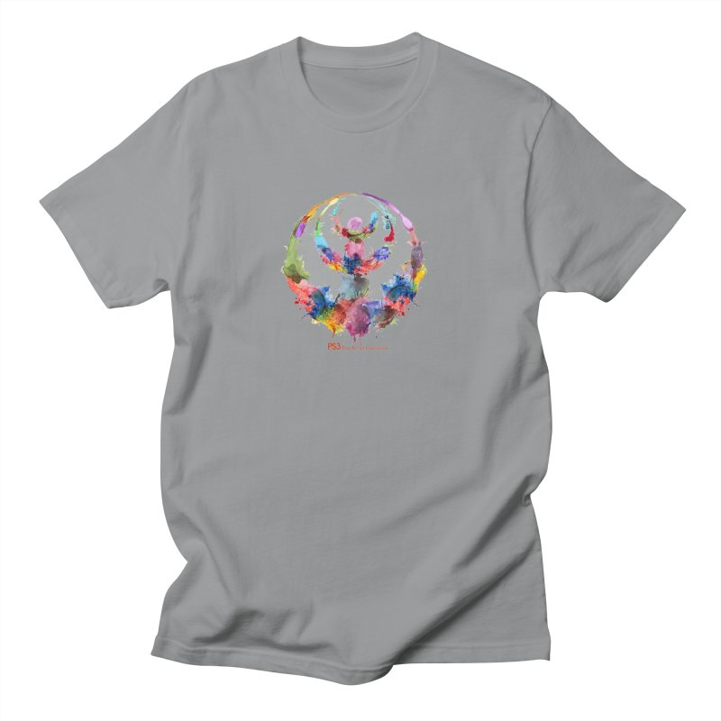 Limited Edition PS3 Watercolor Logo Men's T-Shirt by PS3: Charrette School